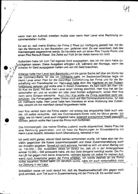 Zeugenvernehmung Baukov 23.04.1999 Amtsgericht Ulm - 2