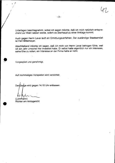 Zeugenvernehmung Baukov 23.04.1999 Amtsgericht Ulm - 3